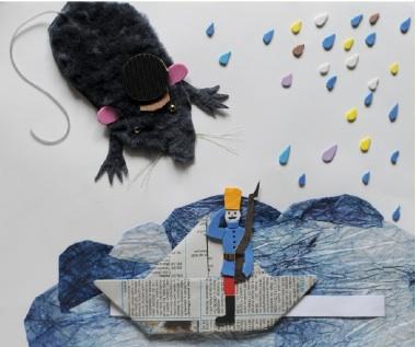 Fingertip Reading - ilustrácia z detskej obázkovej knihy