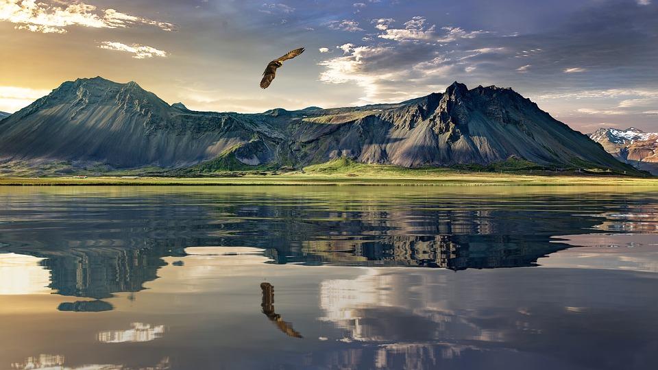 Pohľad na krajinu na Novom Zélande